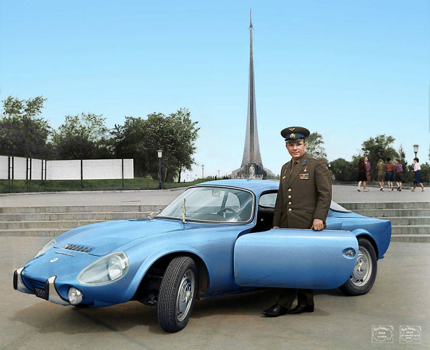 Yuri-Gagarin-With-His-Matra-Bonnet-Djet-Vs-Coupe-1965