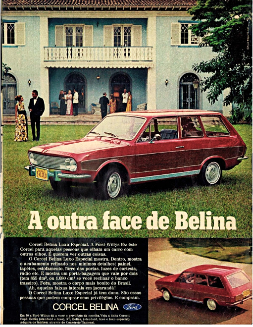 Anúncio Ford Belina - 1970